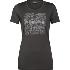 Icebreaker Nature Dye 200 Asteroid SS Crew Top Women, ash/chinese